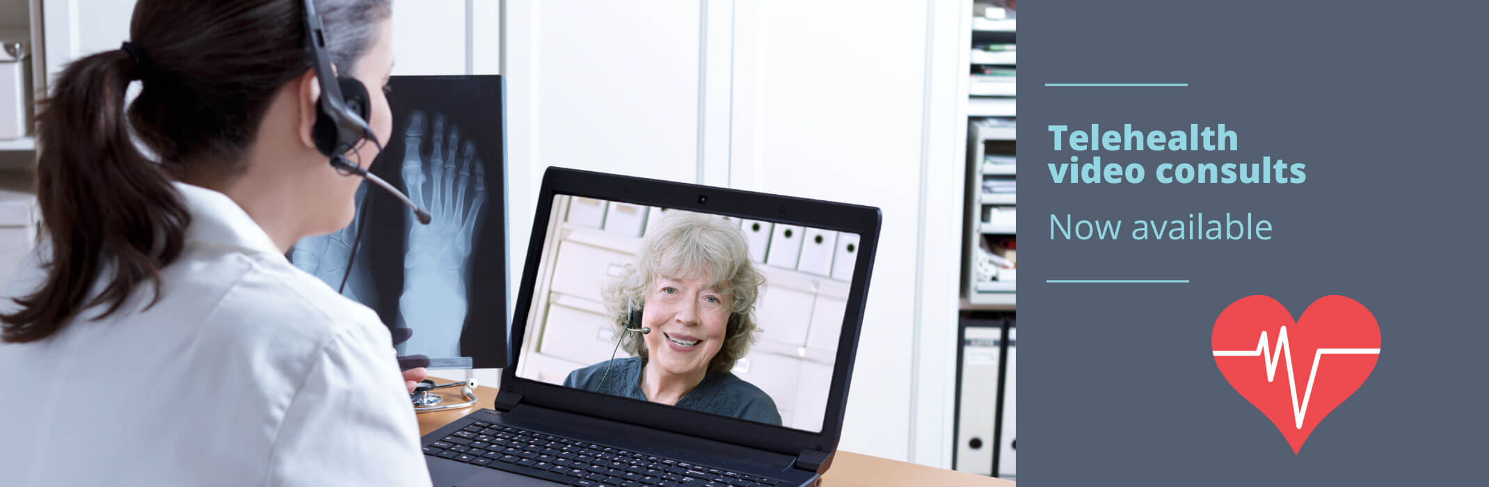 Telehealth video calls now available